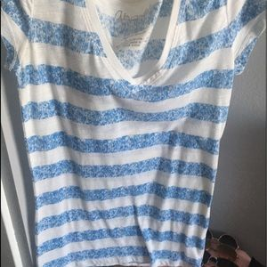 Stripped blue top